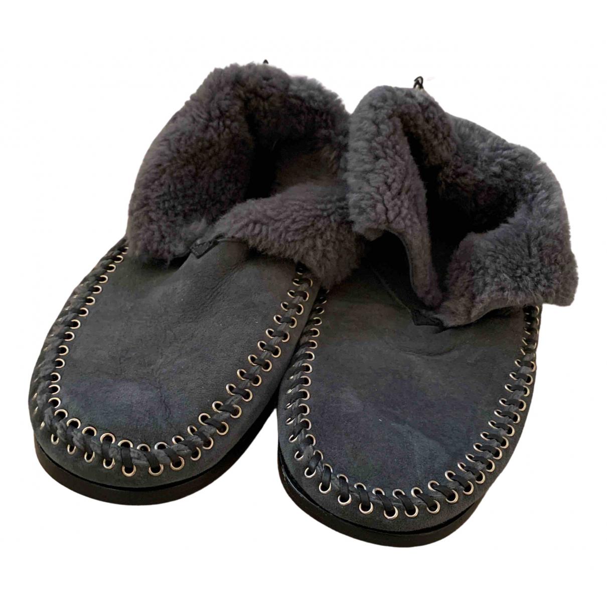Isabel Marant N Anthracite Suede Boots for Men 44 EU