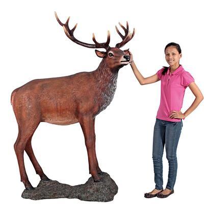 NE130058 Red Deer Buck Statue With