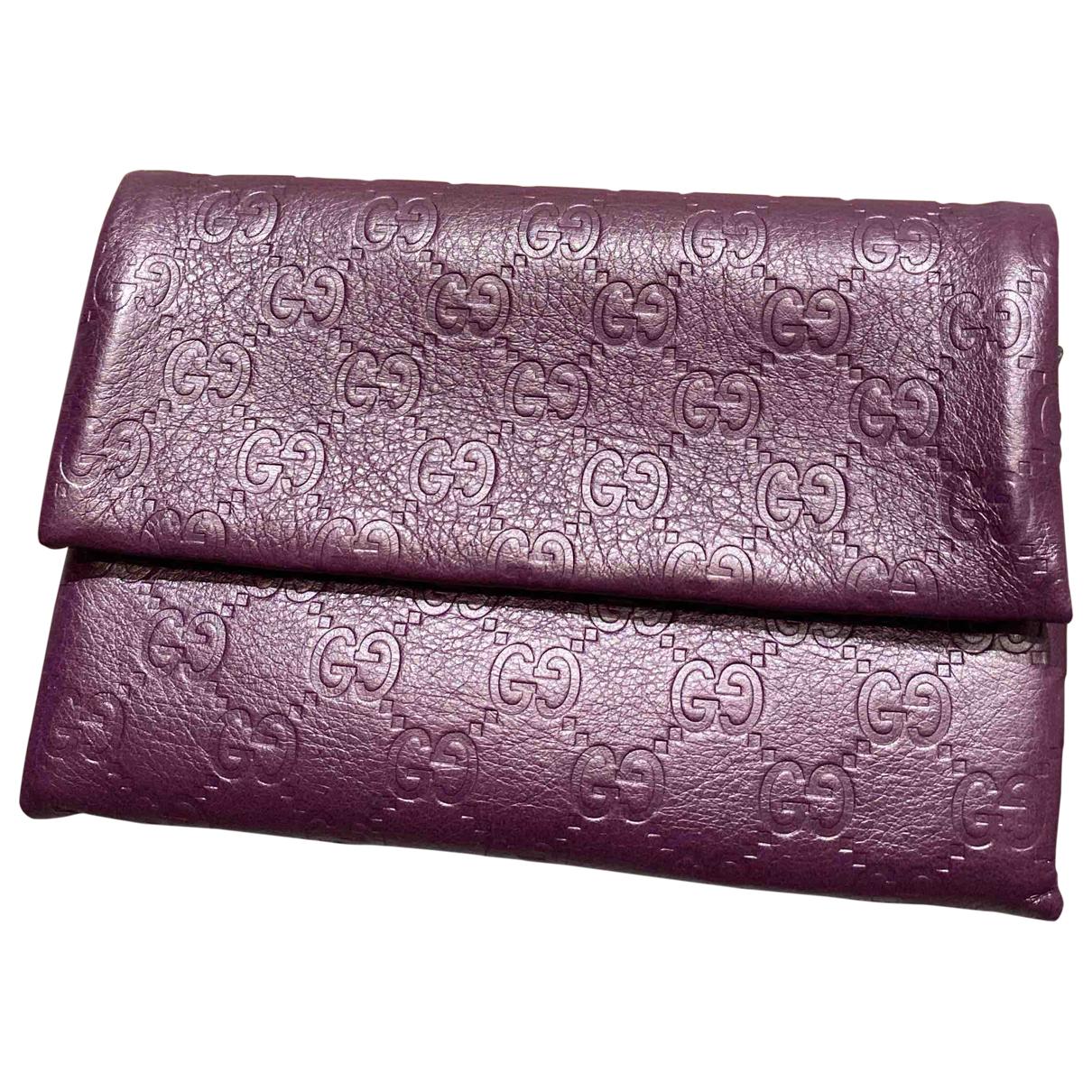 Gucci - Sac de voyage   pour femme en cuir - violet