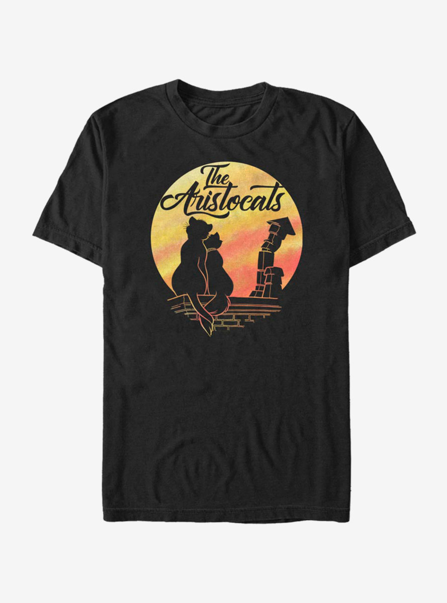Disney The Aristocats Moon Silhouette T-Shirt