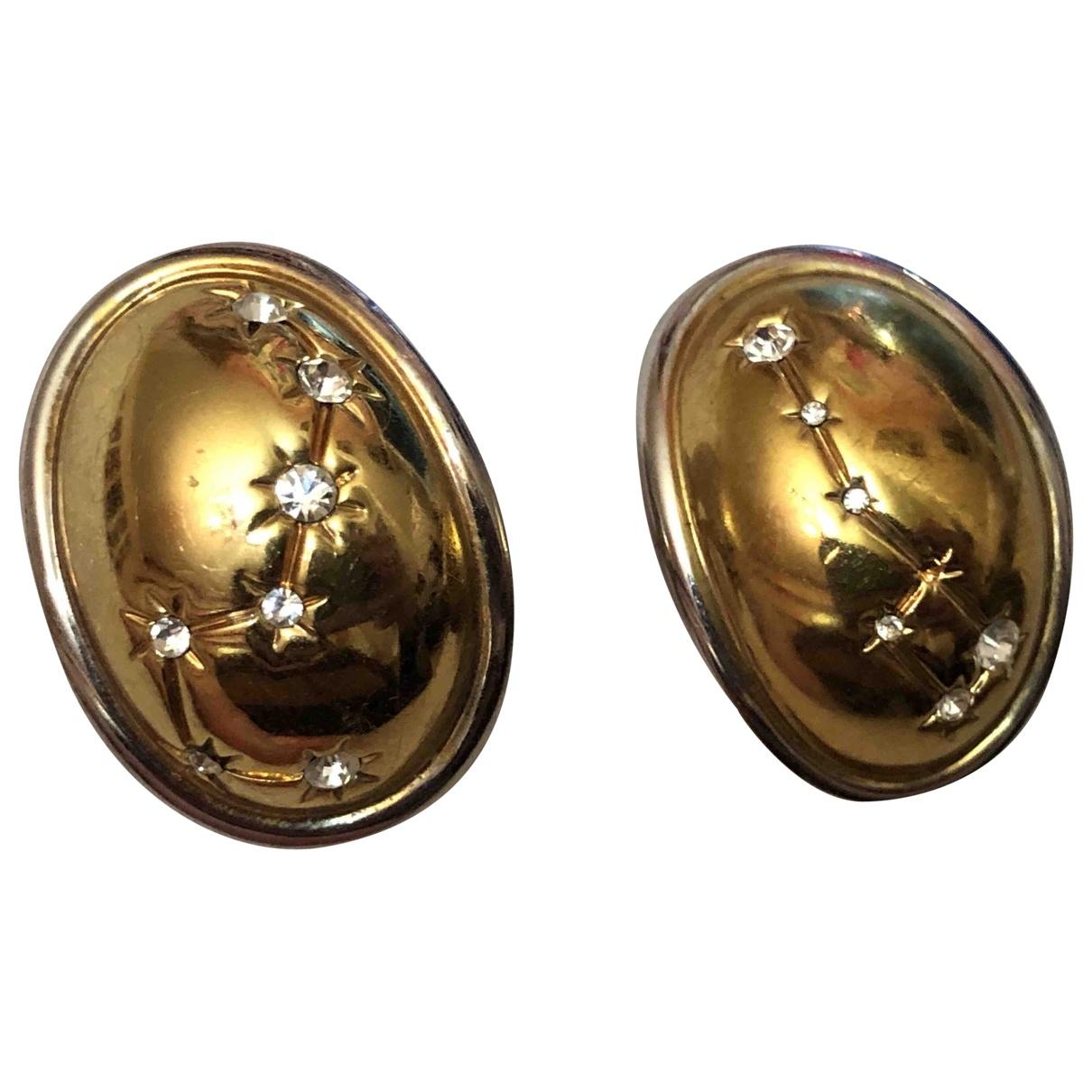 - Boucles doreilles   pour femme en cristal - dore
