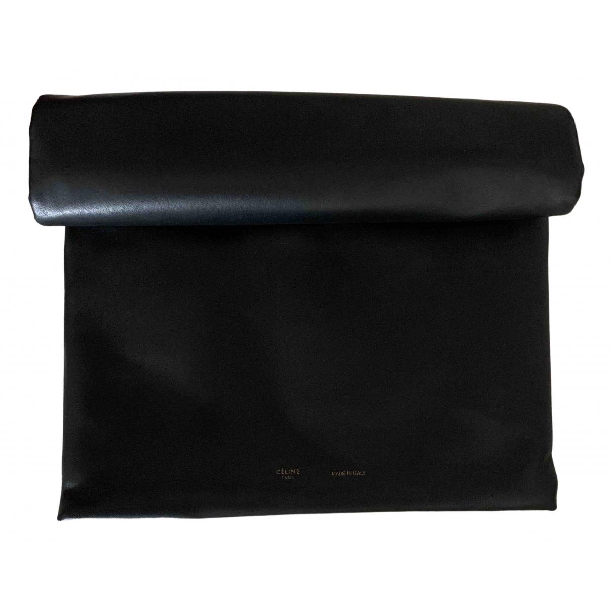 Celine - Pochette   pour femme en cuir - noir