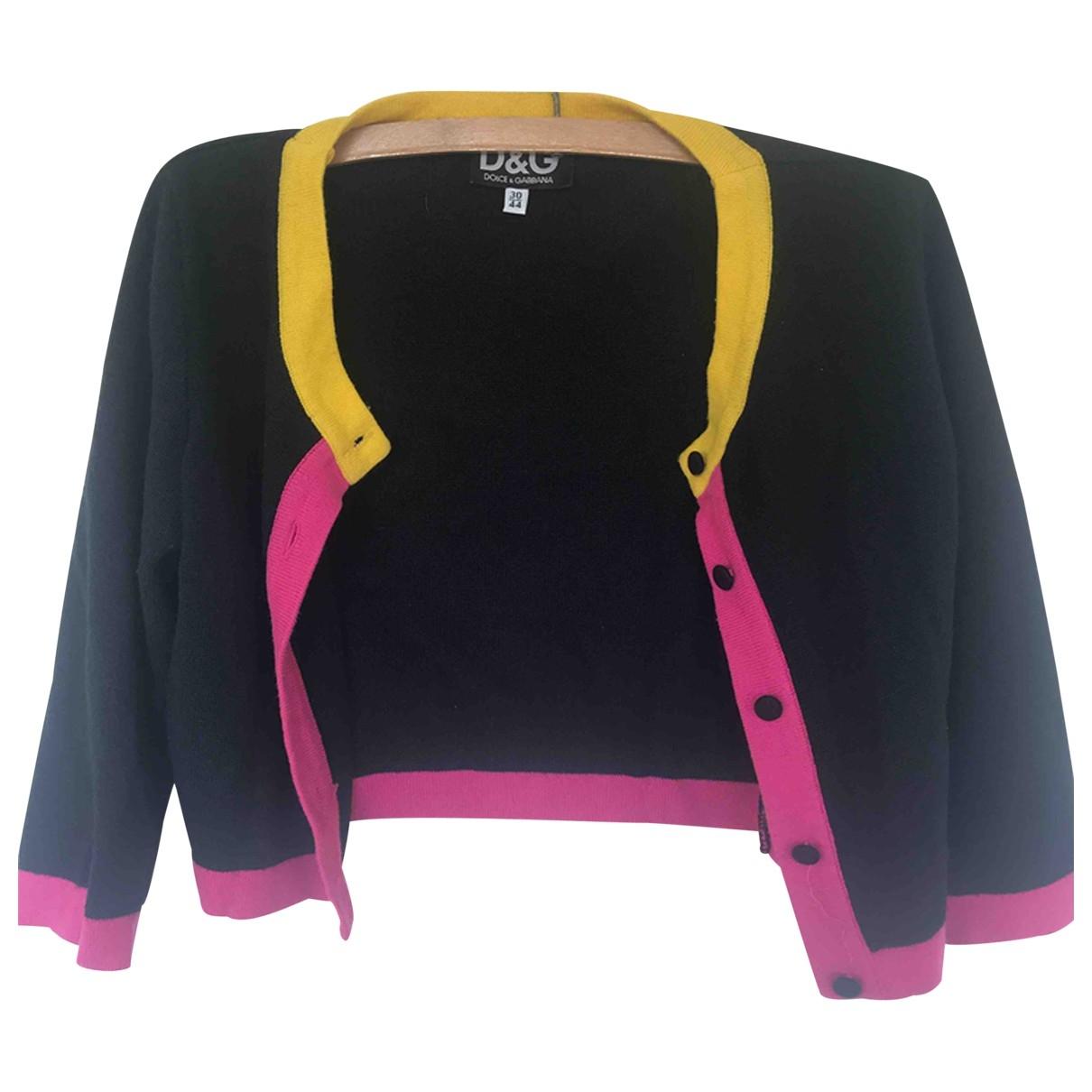 D&g \N Black Cotton Knitwear for Women 40 FR
