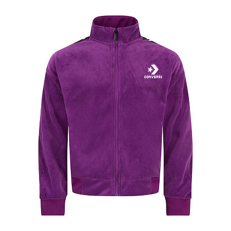 Converse Big Girls Lightweight Track Jacket, Medium , Purple