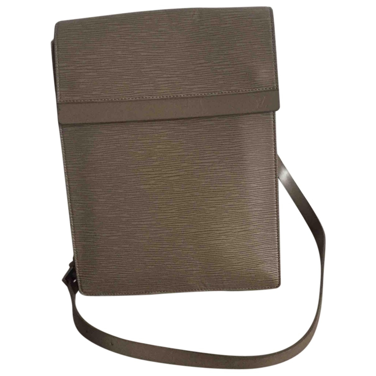 Louis Vuitton \N Handtasche in  Grau Leder