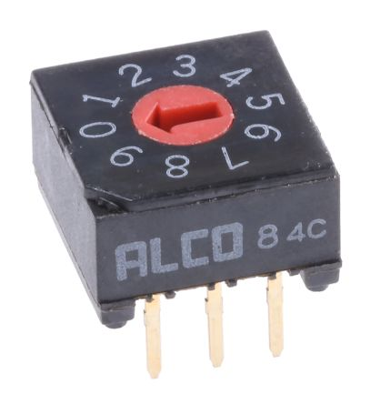 TE Connectivity 10 Way Through Hole DIP Switch 10P, Rotary Flush Actuator