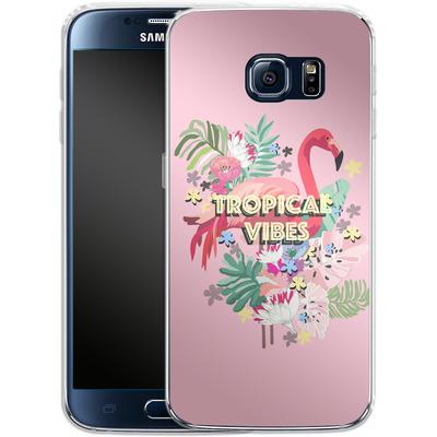 Samsung Galaxy S6 Silikon Handyhuelle - Flamingo Solo von Mukta Lata Barua