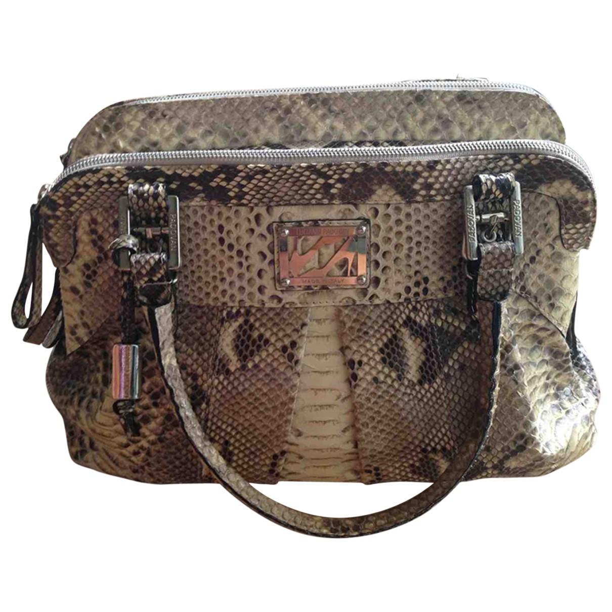 Luciano Padovan \N Beige Python handbag for Women \N
