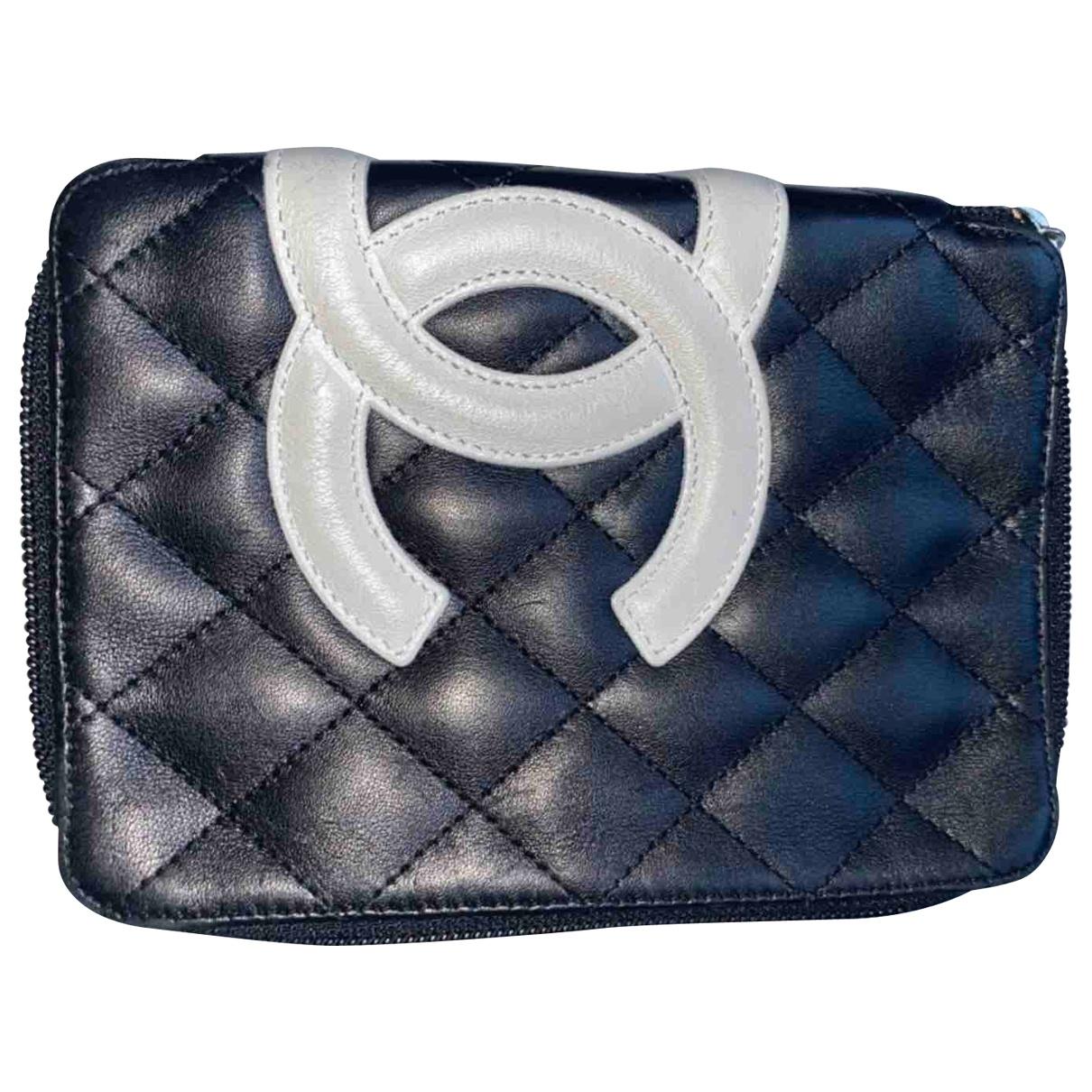 Chanel - Petite maroquinerie Cambon pour femme en cuir - bleu