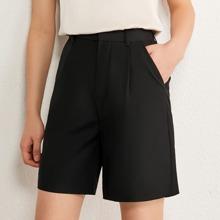 AMII Shorts mit schraegen Taschen und breitem Beinschnitt