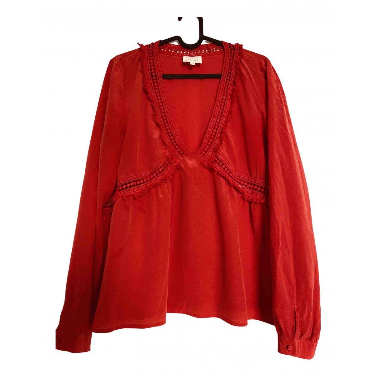 Sezane - Top Spring Summer 2019 pour femme en soie - rouge