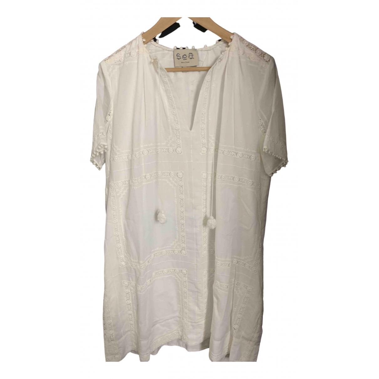 Sea New York - Robe   pour femme en coton - blanc