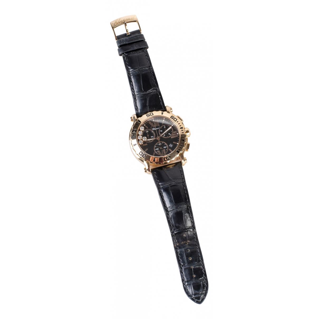 Chopard \N Uhr in  Schwarz Rosegold