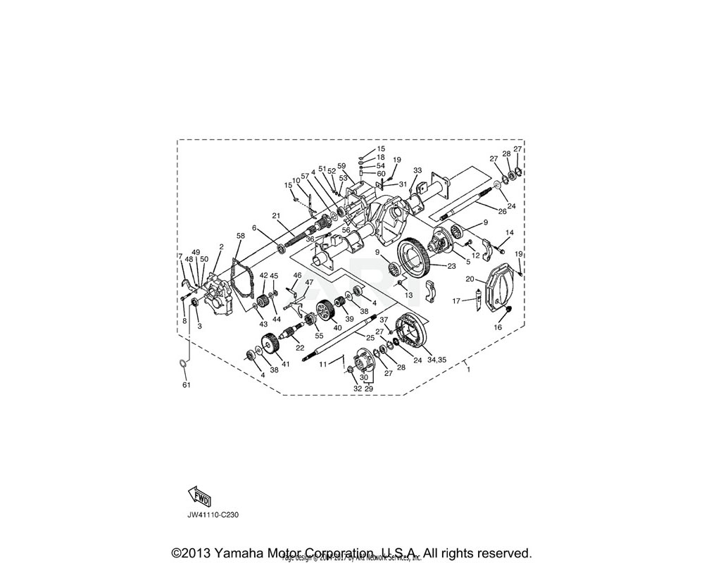 Yamaha OEM JN6-F7290-03-00 BACKING PLATE ASSY 2 | SEE BRAKE 2 (L.H)