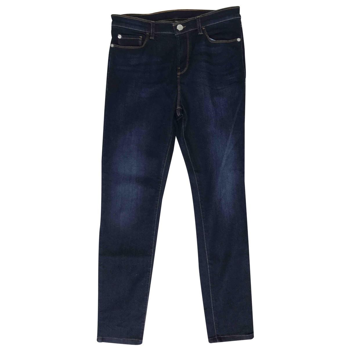 Emporio Armani - Jean   pour femme en coton - elasthane - bleu