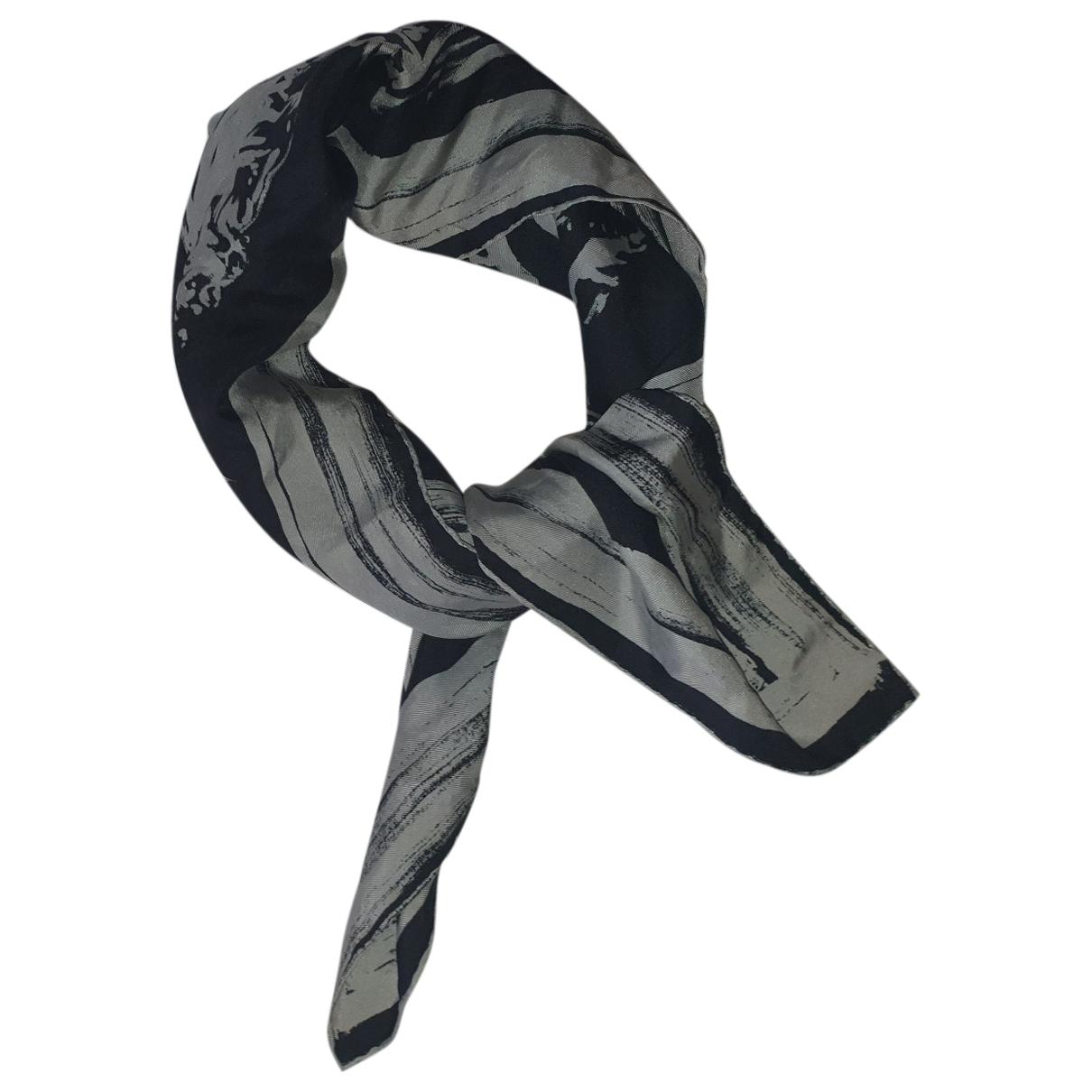 Longchamp - Foulard   pour femme en soie - noir