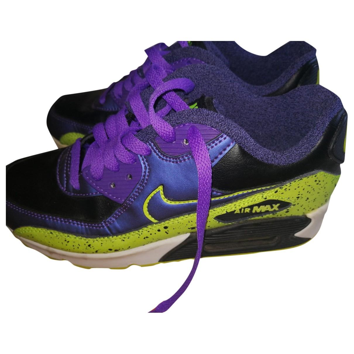 Nike - Baskets Air Max  pour femme en cuir - multicolore