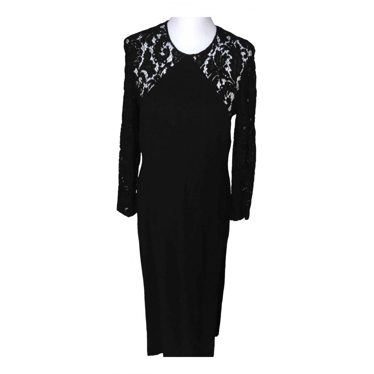 Celine \N Kleid in  Schwarz Synthetik