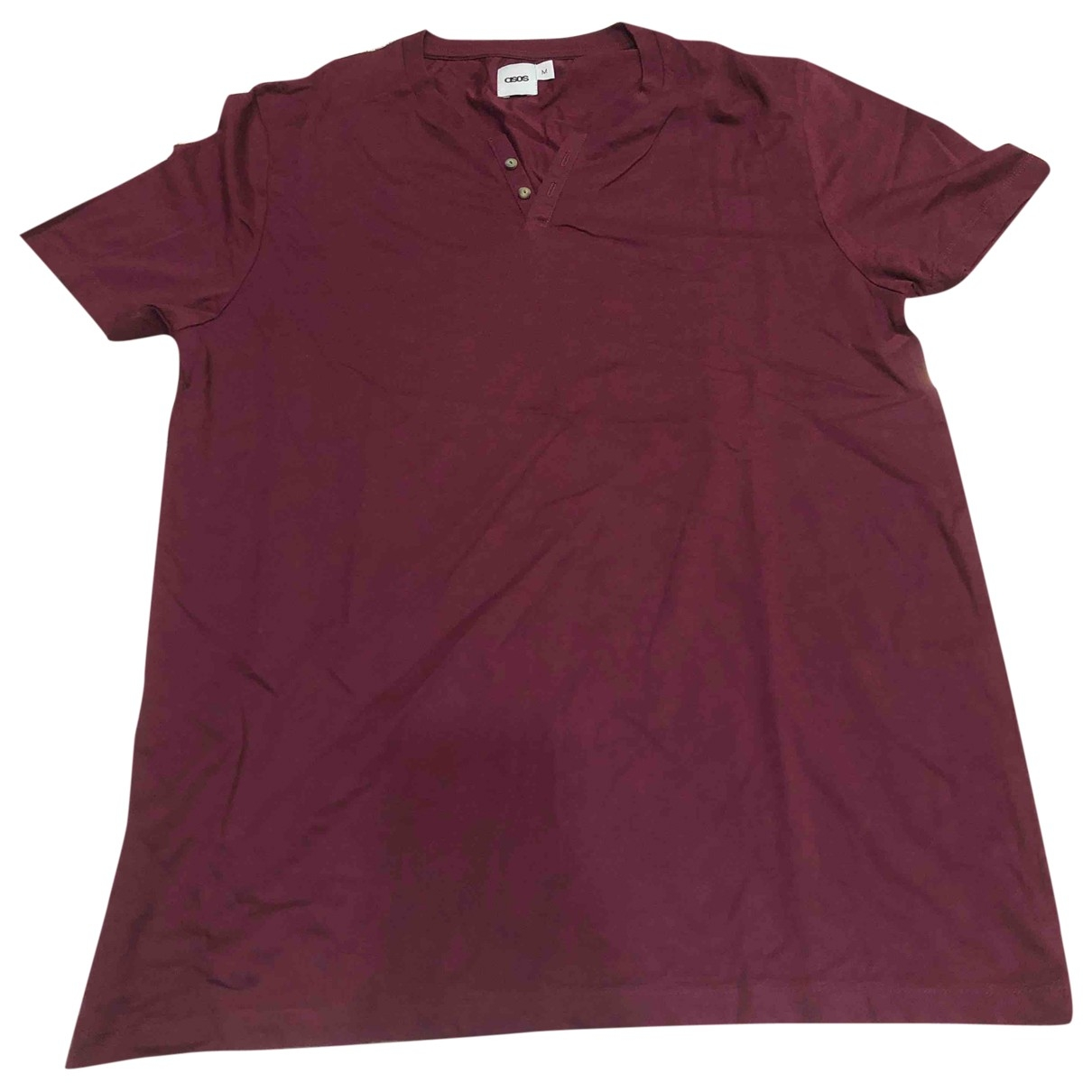 Asos - Tee shirts   pour homme en coton - bordeaux