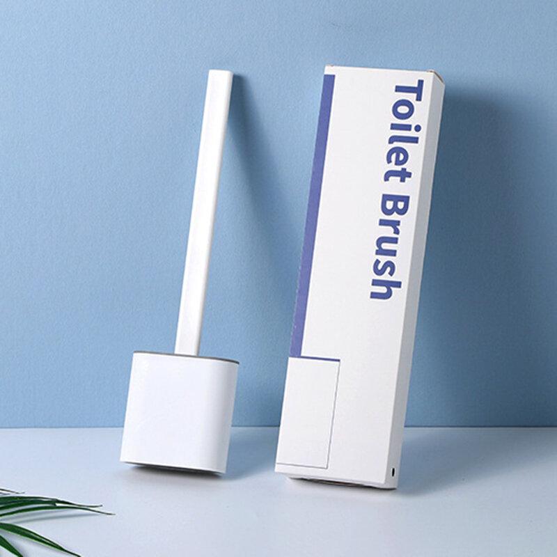 Revolutionary Silicone Flex Toilet Brush With Holder Wash Brushes Wall-mounted Bathroom Toilet Brush