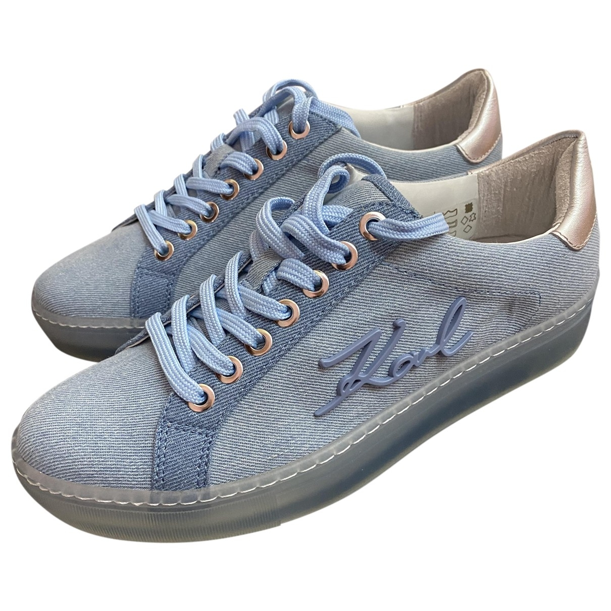 Karl \N Sneakers in  Blau Leder