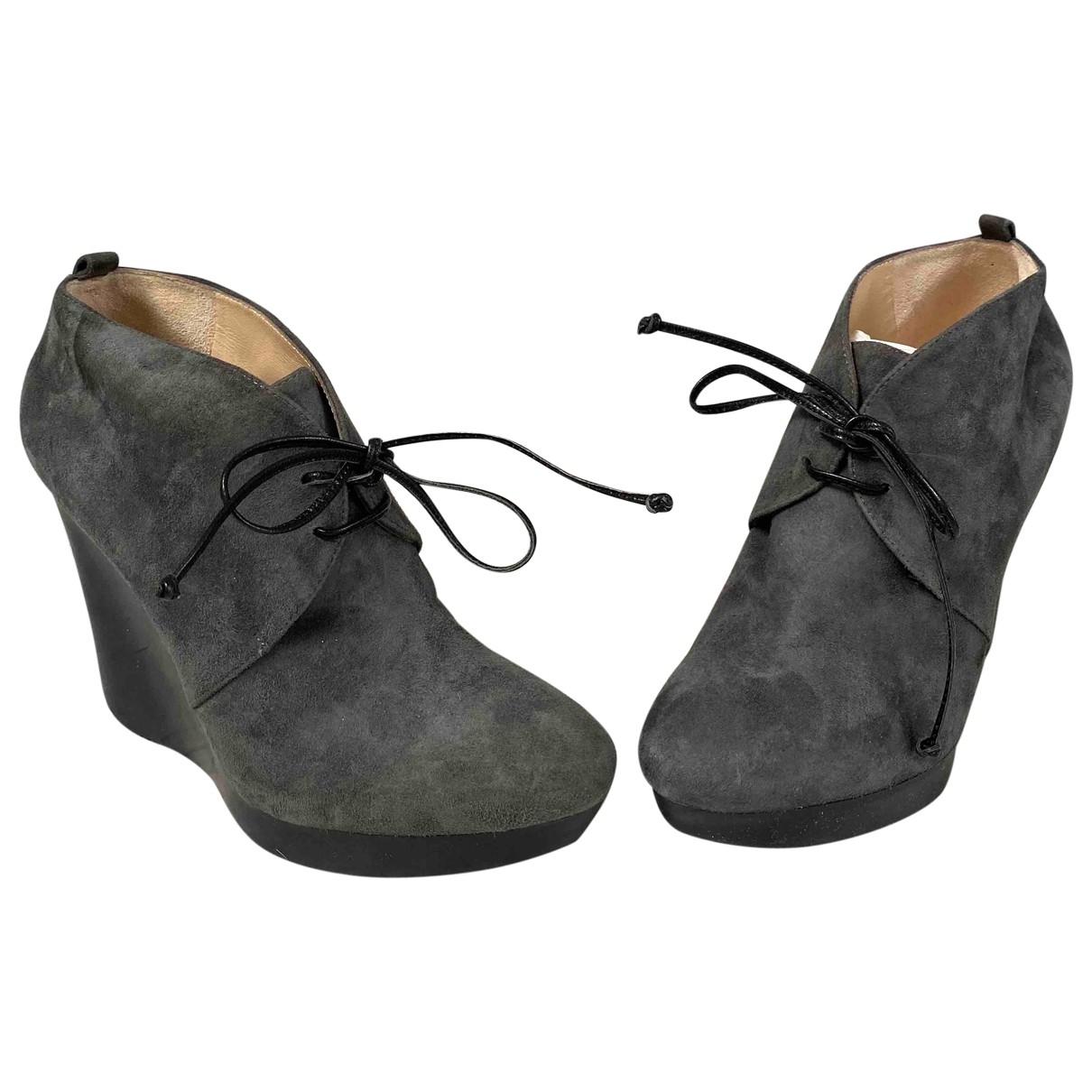Jimmy Choo - Boots   pour femme en suede - gris
