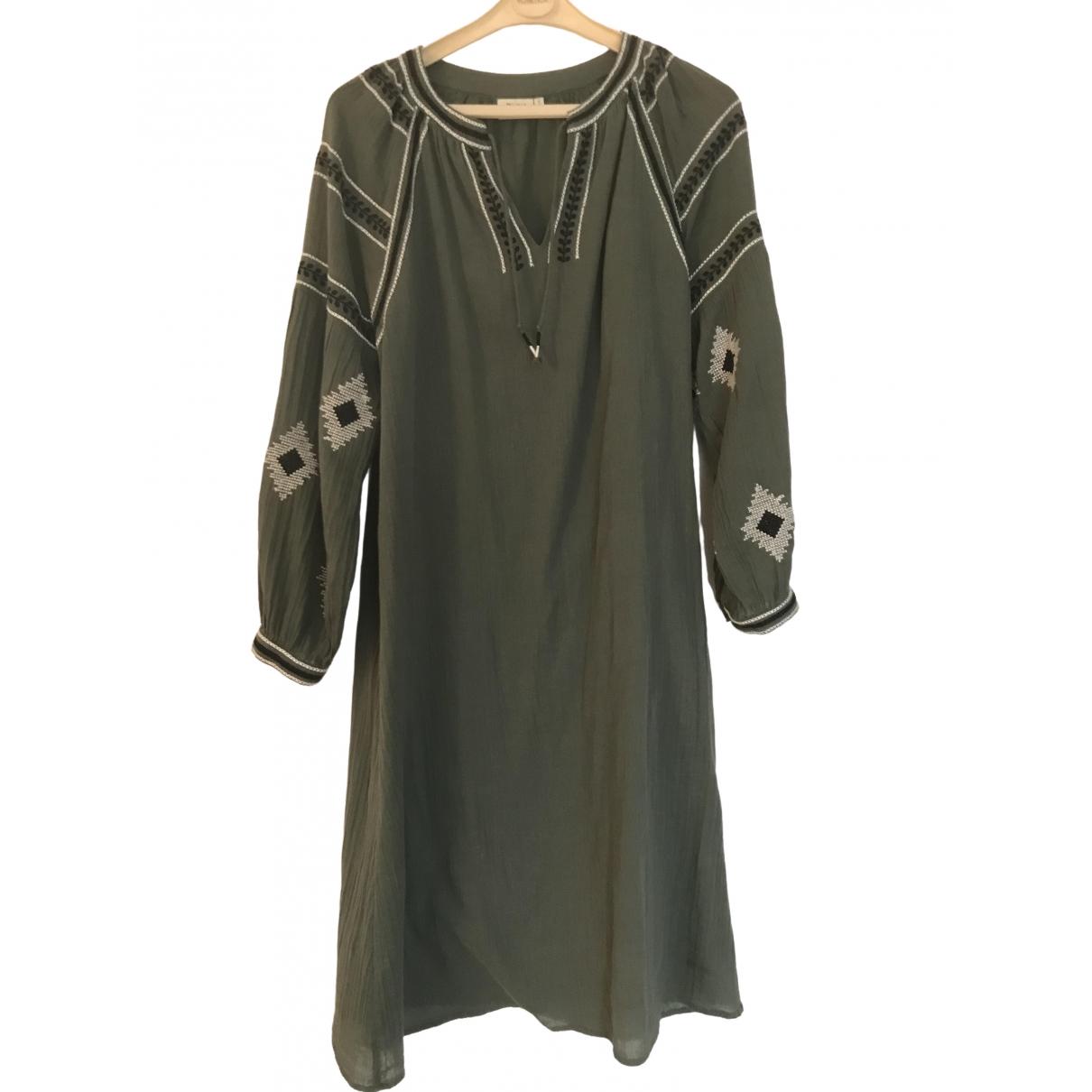 Hartford \N Kleid in  Gruen Baumwolle