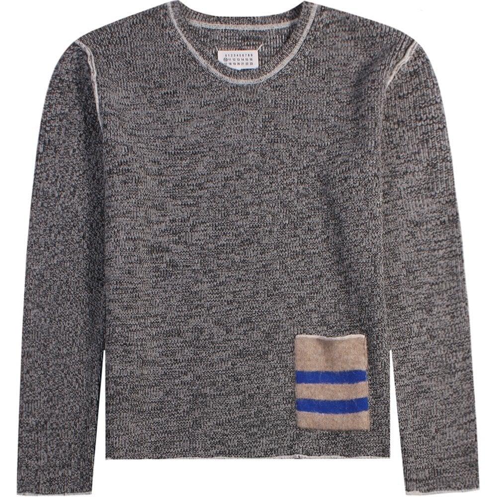 Maison Margiela Knitted Pocket Jumper Grey Colour: GREY, Size: LARGE