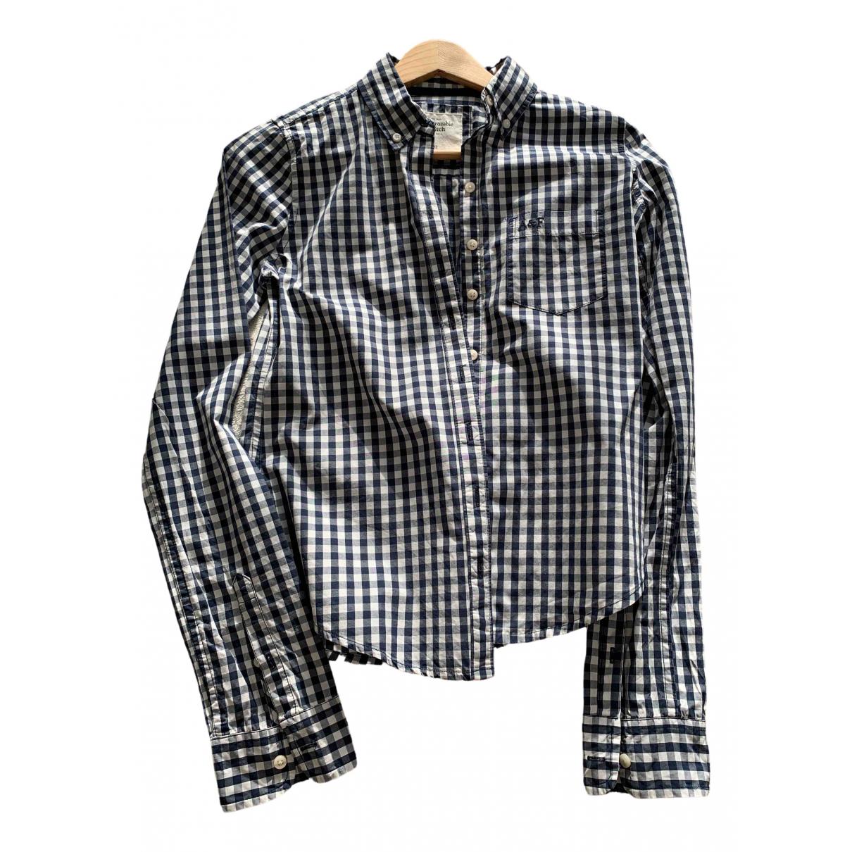 Abercrombie & Fitch - Top   pour femme en coton - bleu