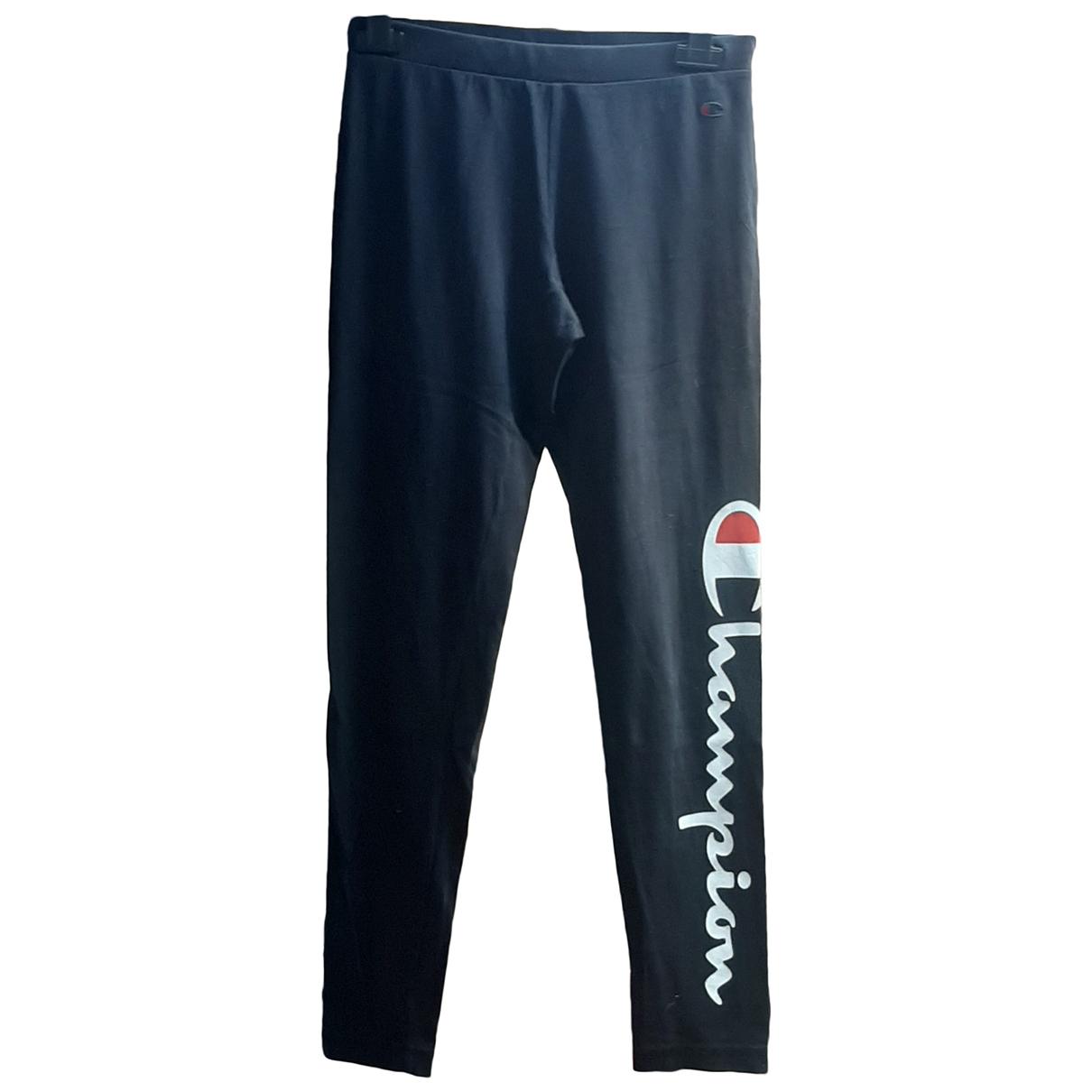Champion \N Black Cotton Trousers for Women S International