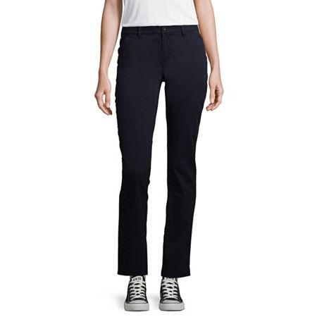 Arizona Slim Fit Straight Pants-Juniors, 11 , Blue