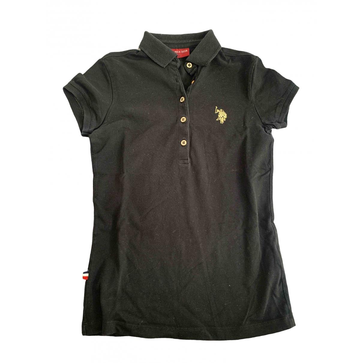 Polo Ralph Lauren Polo cintré manches courtes Black Cotton  top for Women XS International