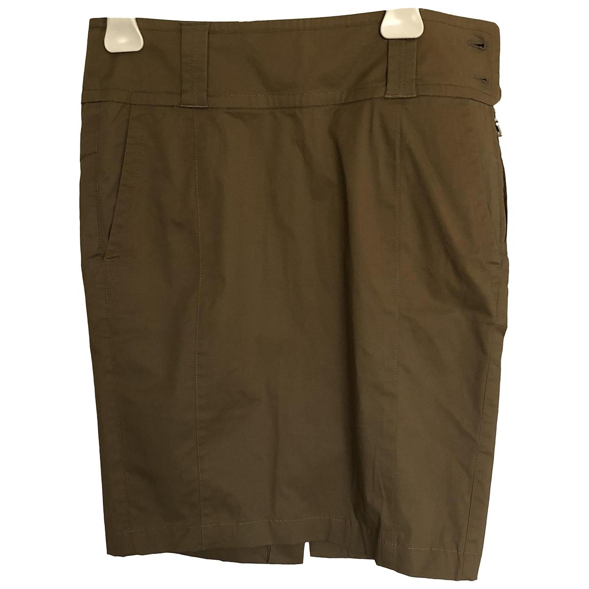Prada \N Beige Cotton skirt for Women 38 IT