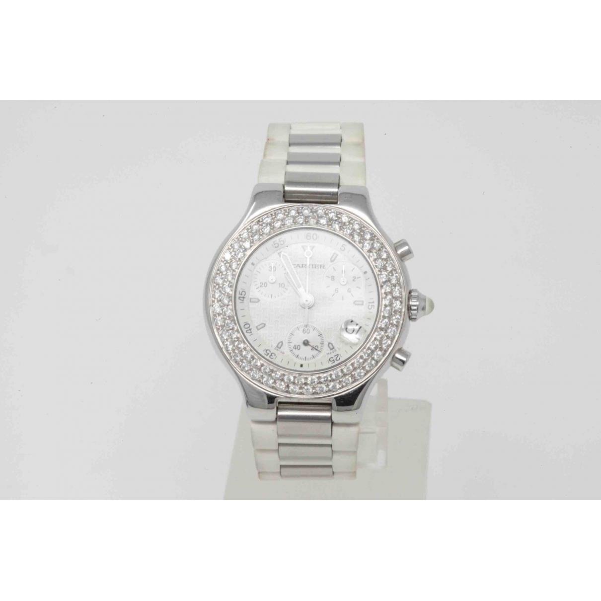 Cartier Must 21 Uhr in  Silber Stahl
