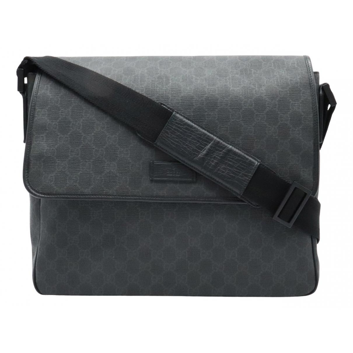 Gucci \N Handtasche in  Anthrazit Leinen