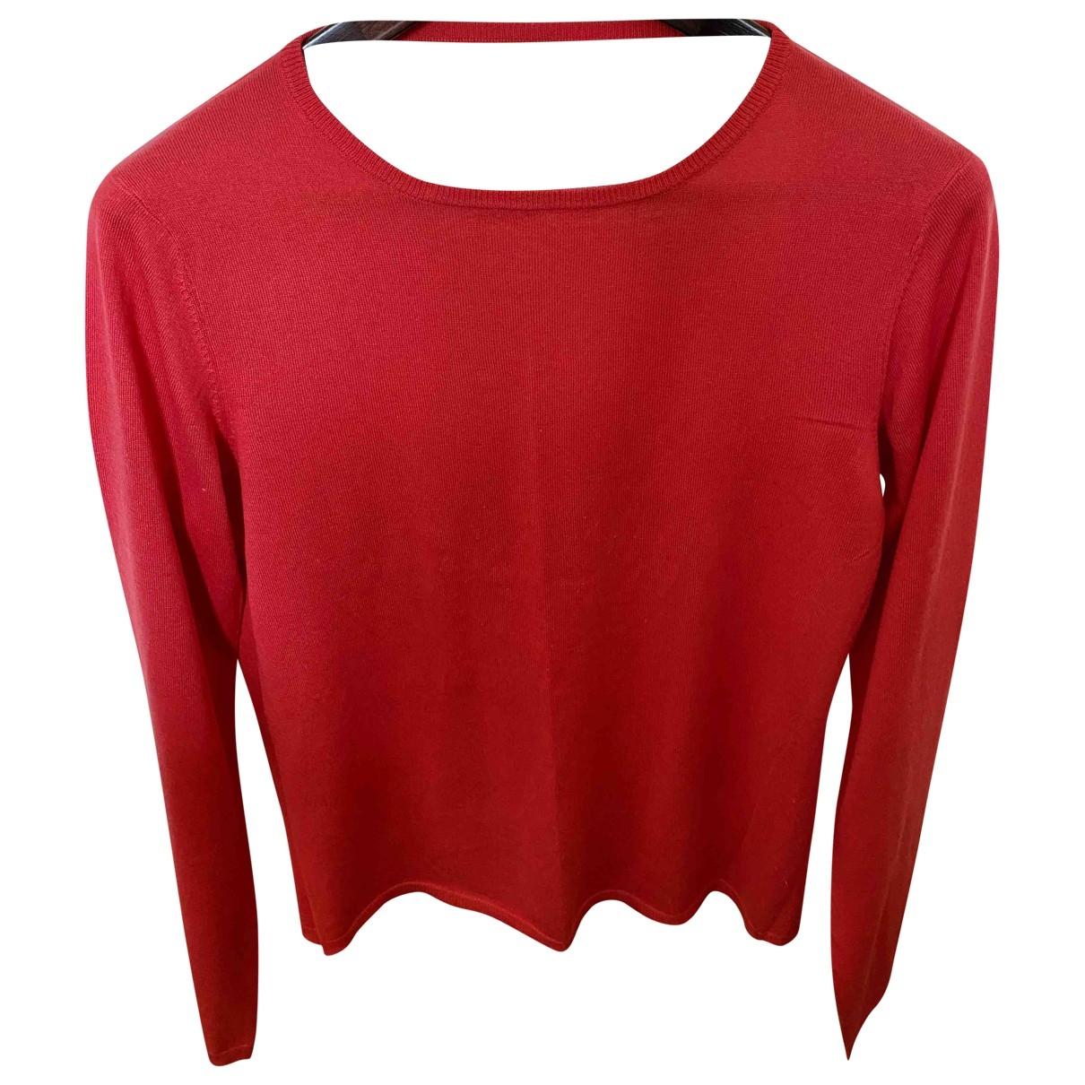 Maje \N Pullover in  Rot Kaschmir