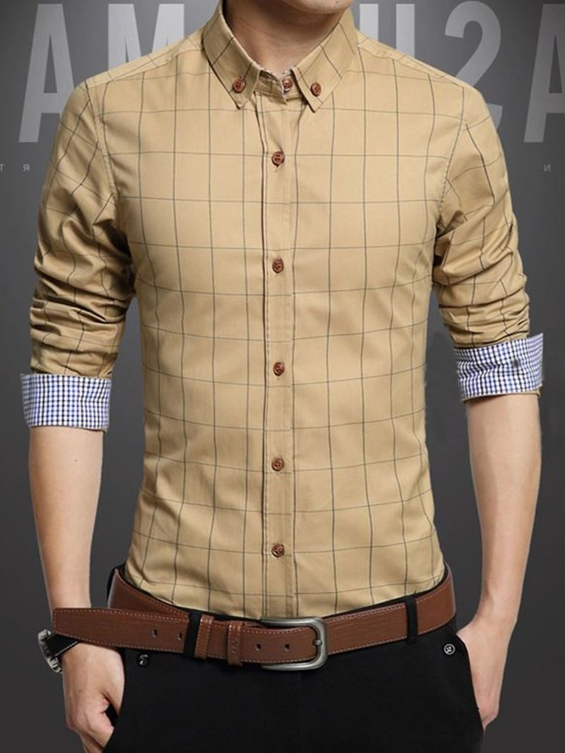 Ericdress Casual Lapel Plaid Summer Single-Breasted Men's Shirt