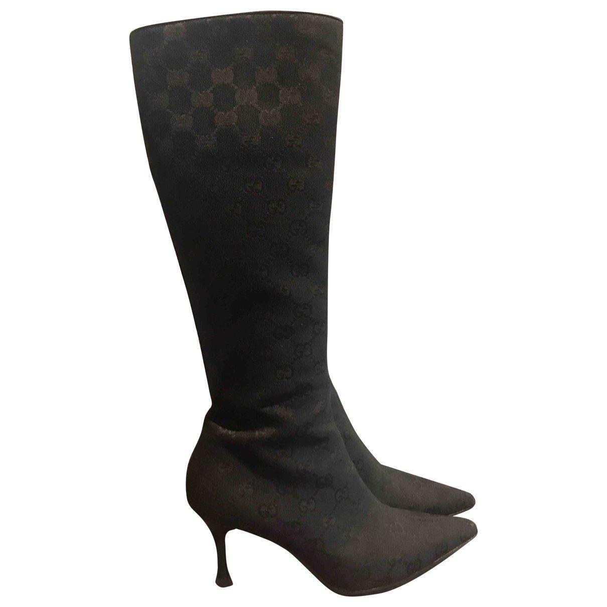 Gucci \N Black Cloth Boots for Women 35 EU