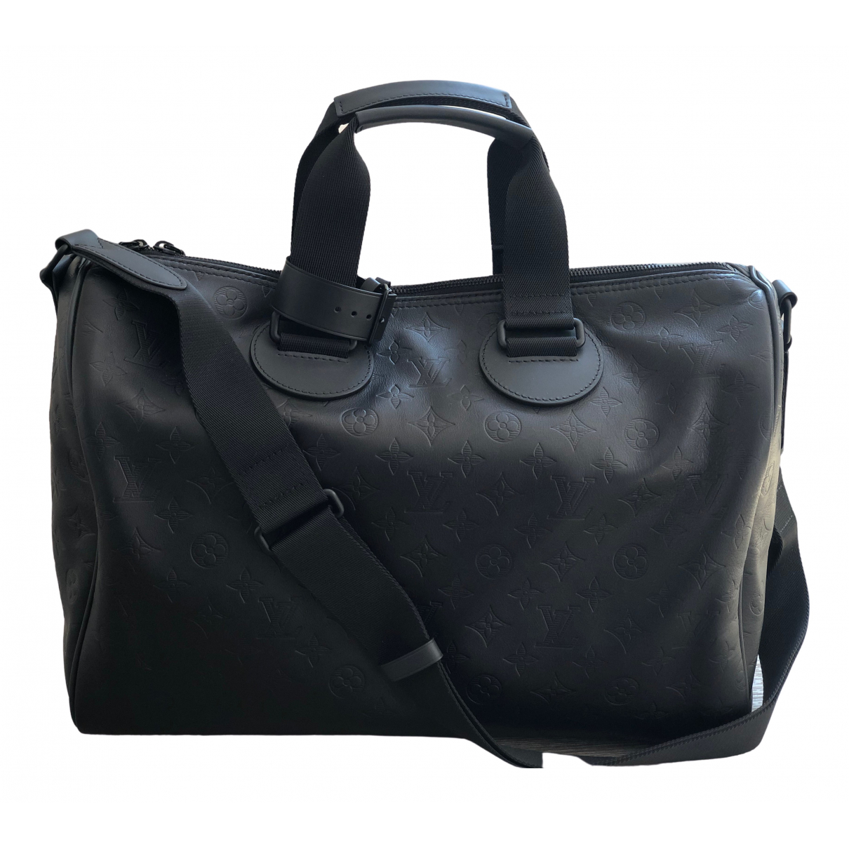 Louis Vuitton Keepall Black Leather bag for Men \N