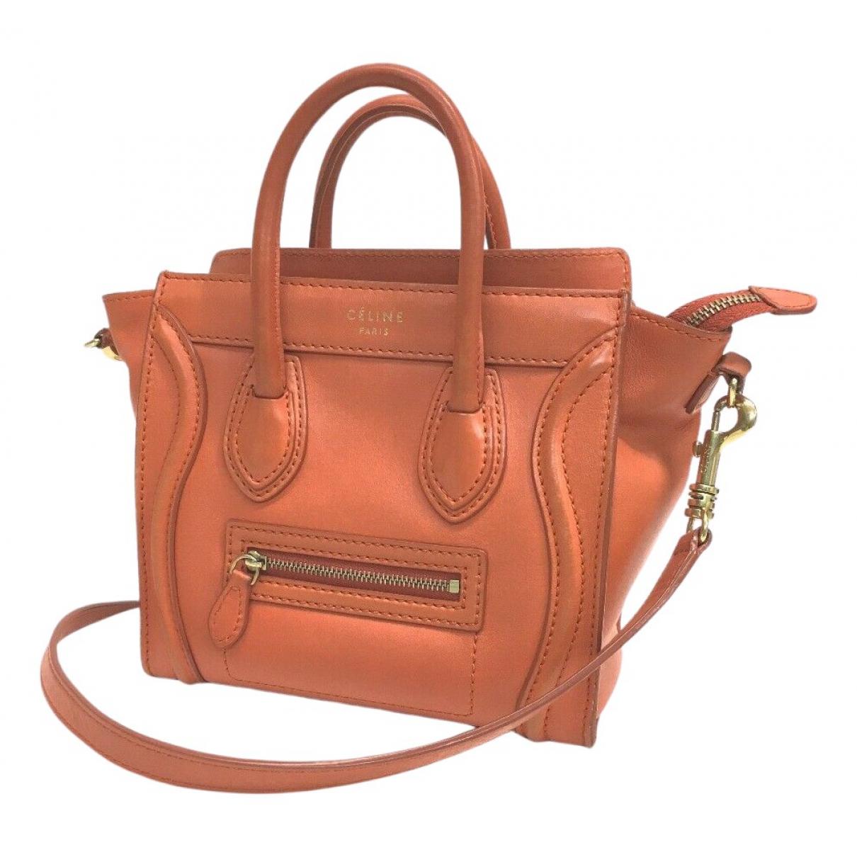 Celine Luggage Orange Leather handbag for Women N