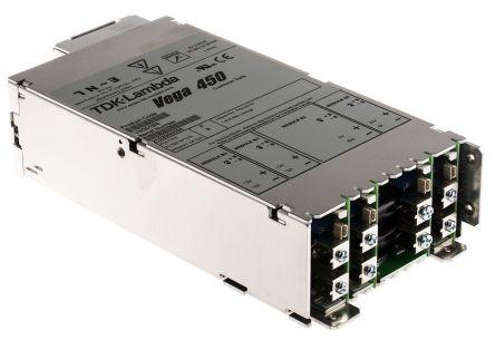 TDK-Lambda , 450W Embedded Switch Mode Power Supply SMPS, 5 V dc, 12 V dc, 24 V dc, Enclosed