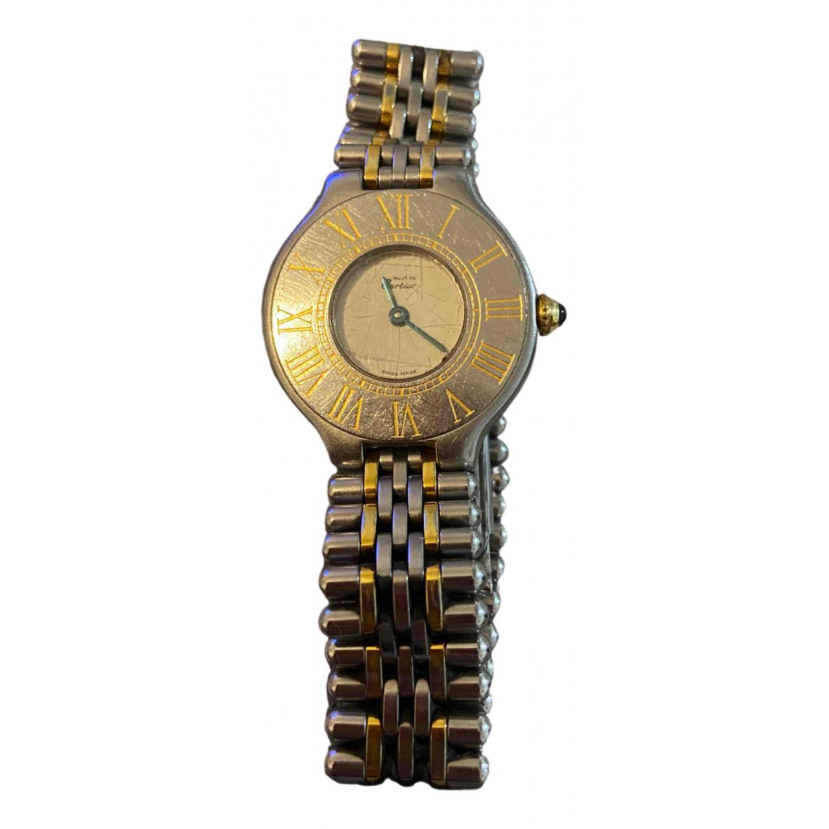 Cartier - Montre Must 21 pour femme en plaque or - dore
