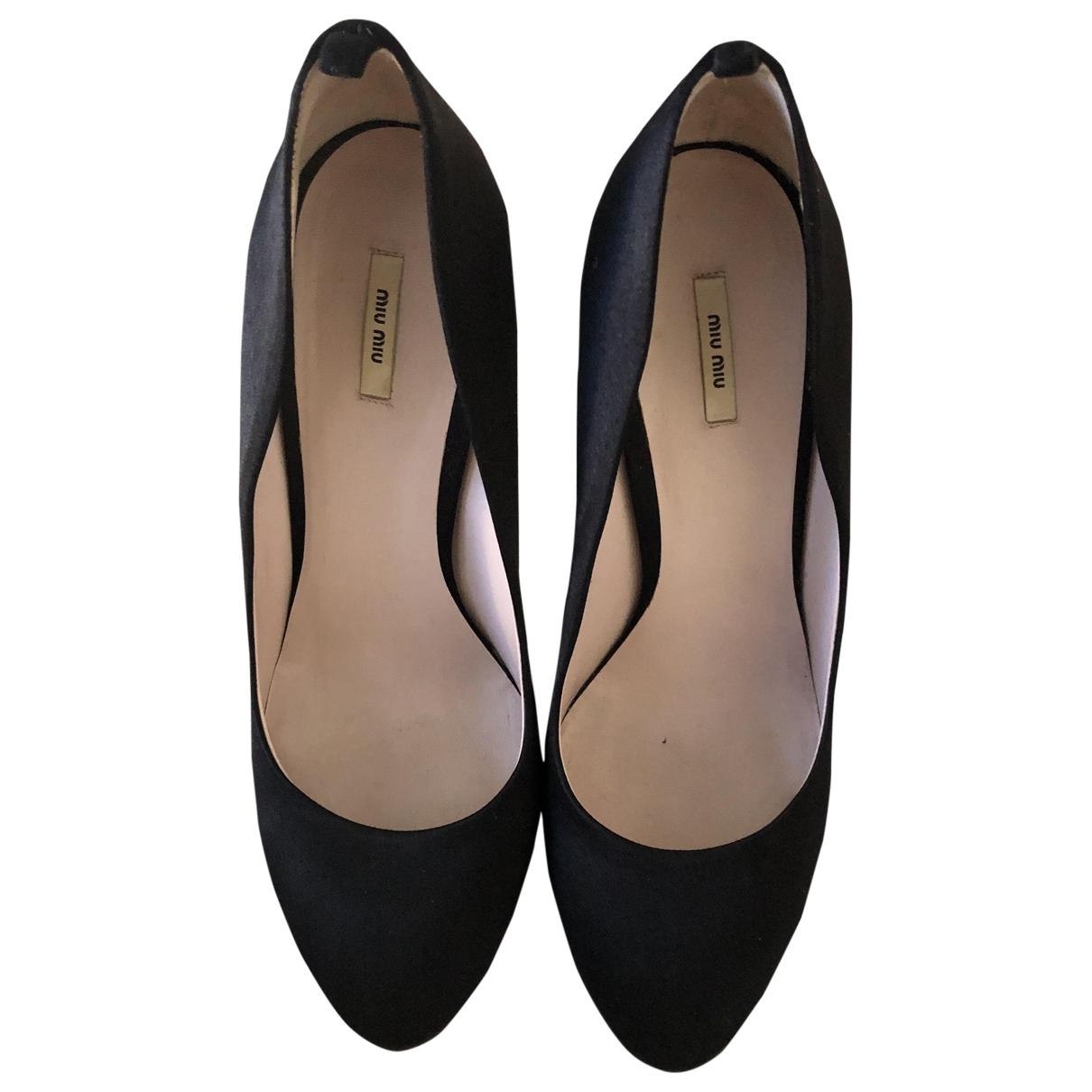 Miu Miu - Escarpins   pour femme en cuir - noir