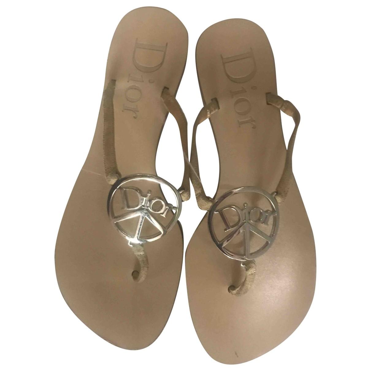Dior - Sandales   pour femme en suede - beige