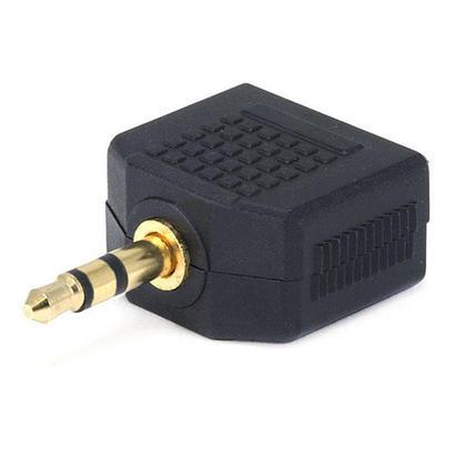 Adaptateur répartiteur 3.5mm stéréo fiche vers 2x 3.5mm stéréo Jack, plaqué or - Monoprice®