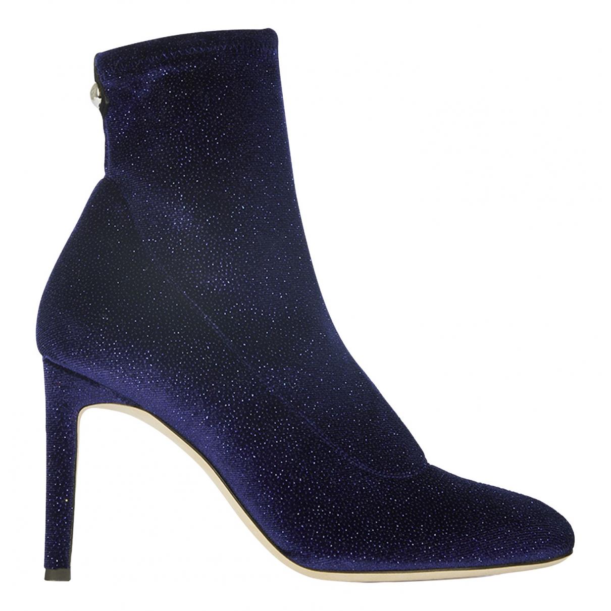 Giuseppe Zanotti N Blue Velvet Ankle boots for Women 2 UK