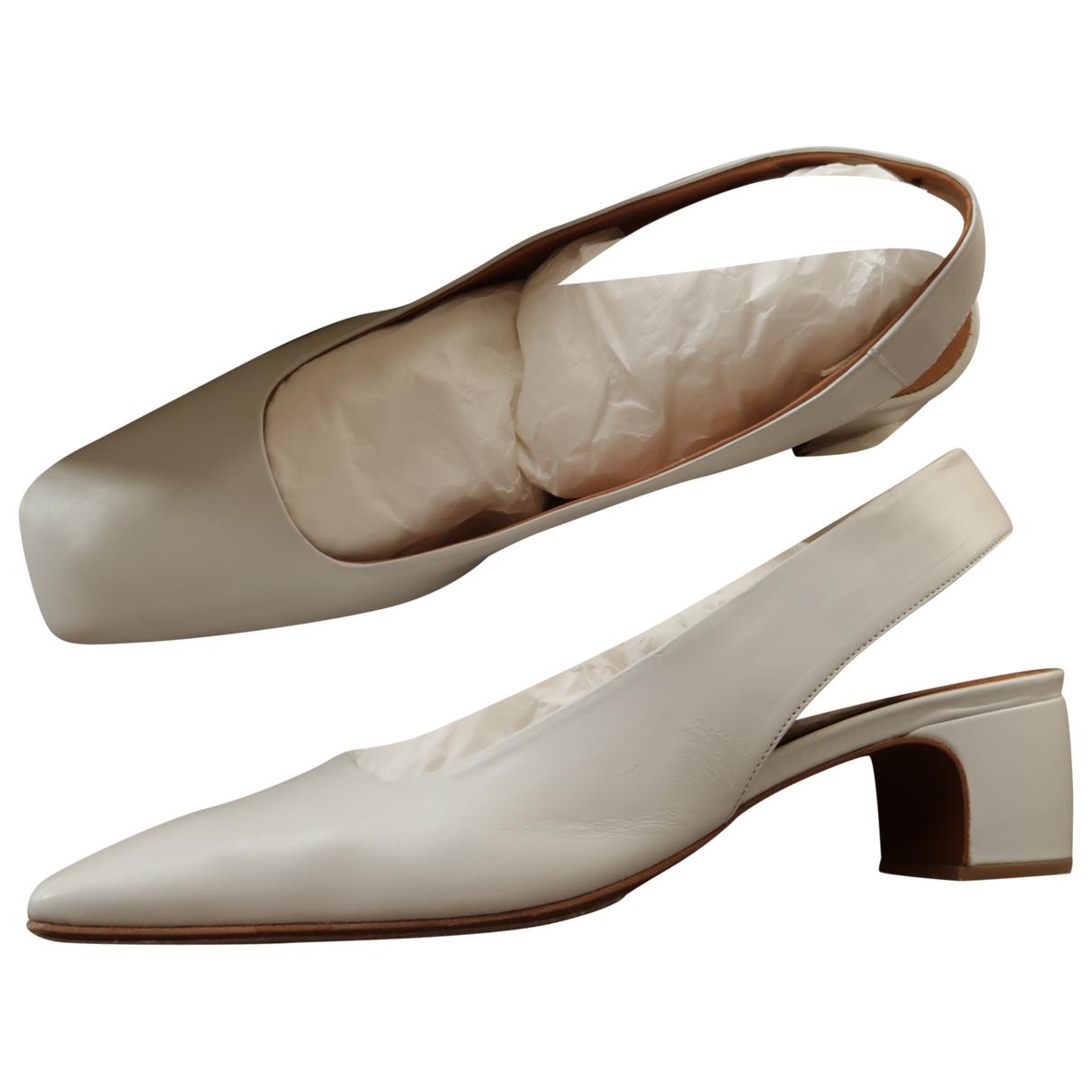 By Far - Sandales   pour femme en cuir - blanc