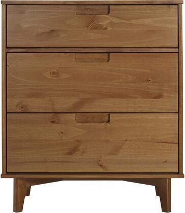 BR3DSLDRCA 3 Drawer Mid Century Modern Wood Dresser in