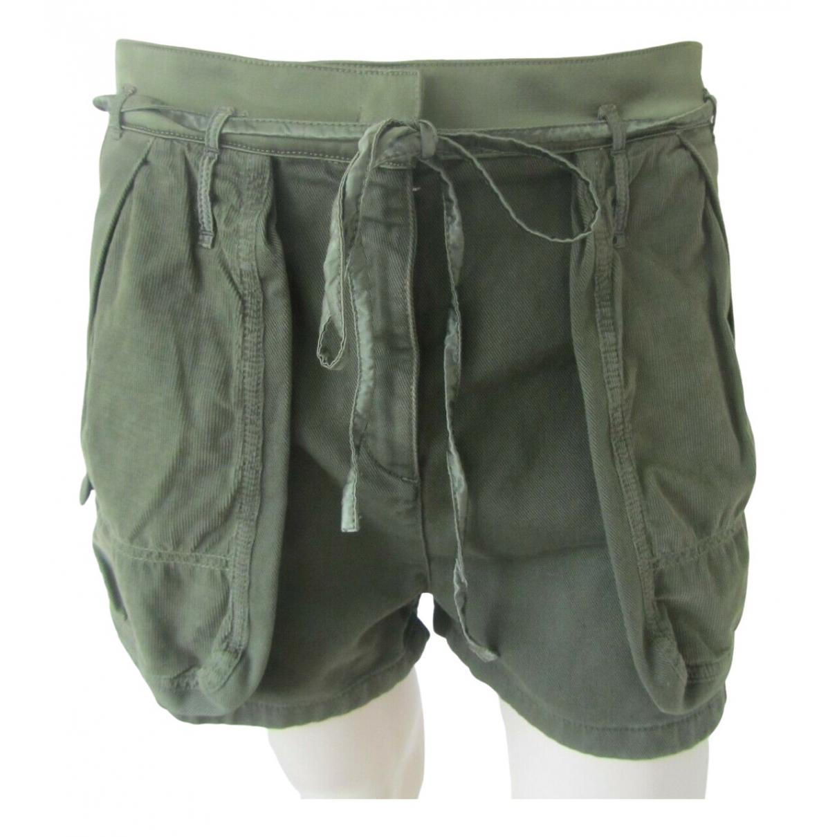 Valentino Garavani \N Shorts in  Khaki Baumwolle