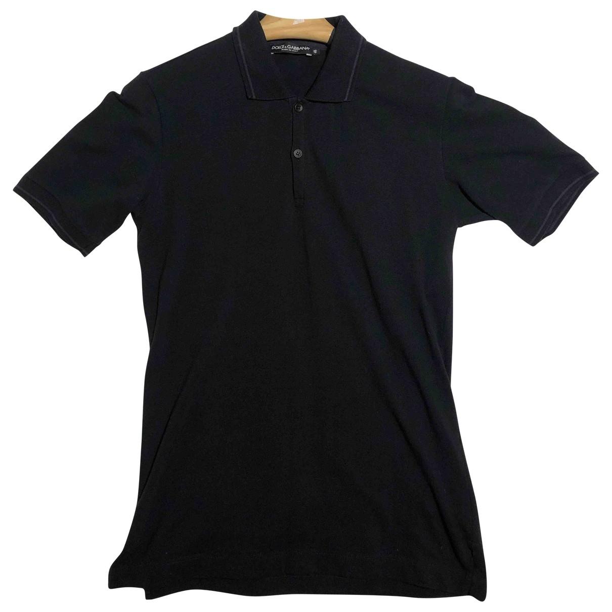 Dolce & Gabbana - Polos   pour homme en coton - noir